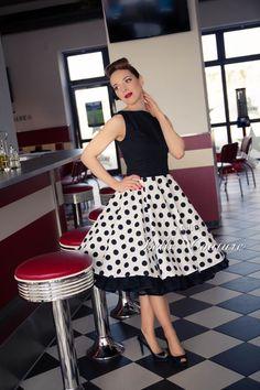 50er Jahre Rockabilly  Petticoat Kleid   von Atelier Belle Couture 50er Jahre Petticoatkleider Rockabilly Kleider auf DaWanda.com