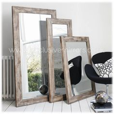 Rustic Wooden Framed Full Length Narrow Mirror 142 x 51cm [EE1066] - 139.92 - Mirrors for Every Interior from Exclusive Mirrors