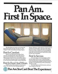 Pan Am First Class in the 80's