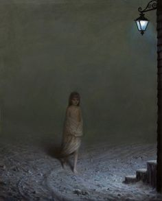 """Aron Wiesenfeld """"The Settlers"""" , oil on canvas, 25 x 20 in / 64 x 51 in, 2012 The Settlers, Nocturne, American Artists, Figurative Art, Dark Art, Contemporary Artists, Illustrators, Oil On Canvas, Creepy"""