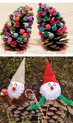 1000+ images about noel on Pinterest | Deco, Rouge and Pine cones