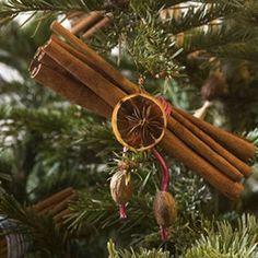DIY cinnamon stick ornament