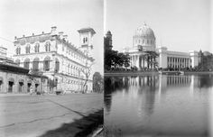General Post Office (R) from across the Lal Dighi tank, Kolkata. The scaffolding could be for the lighting celebrating the British royal vis...