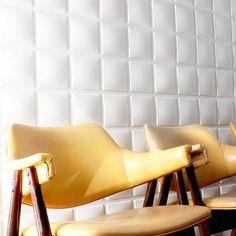 "Inhabit Wall Flats 19.7' x 19.7"" Geometric 3D Embossed 12 Piece Tile Wallpaper | AllModern"