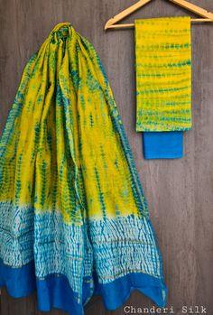 Price Rs 1600 + Shipping extra Hand block Printed chanderi silk dress materials Top and dupattas chanderi silk (2.50×2 mtrs) Bottom cotton (2.50 meters) Chanderi Suits, Chanderi Silk Saree, Patiala Suit, Churidar Suits, Anarkali Suits, Salwar Kameez, Silk Sarees, Silk Suit, Suit Fashion