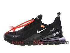 sale retailer 7c584 634be Off white x Nike Air Max 270 Chaussures Officiel 2018 Pas Cher Pour Homme  Noir Blanc Basket Homme Nike