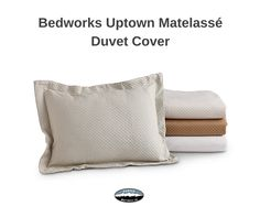 Bedworks Uptown Matelassé duvet cover at Denver Mattress