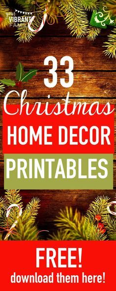 Decorating your home for the holidays? Here's 31 FREE home decor printables that you can easily frame as part of your seasonal decor! You'll love this cheap holiday decor! Get these FREE CHRISTMAS PRINTABLES!