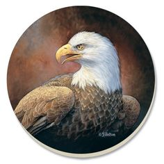 Conimar 4-Inch Absorbent Stoneware Coasters, Bald Eagle, Set of 4 by New Advanced Products, Inc.. $12.00. Absorbs glassware condensation. Easy to clean. Multicolored. 4-inch diameter. Not dishwasher-safe. Decorative absorbant stone coasters printed with vibrant permanent colors and soft cork bottom to protect your furnishings   Ample 4-inch base allows for several sizes of glassware  set of four comes in sturdy gift box