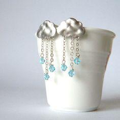 rain earrings! quirky and cute, very pretty