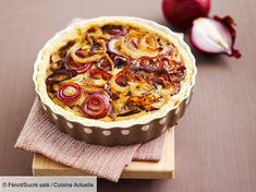 Onion and spice tart - Salted pies and pies - # to # EP . Quiches, Apple Pie, Onion, Healthy Recipes, Homemade, Dinner, Cooking, Desserts, Beignets