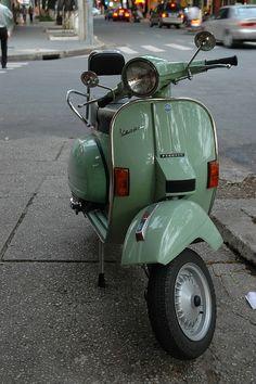 Minty Green Vespa