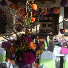 Hochzeitslocation Seehaus Herbst-Hochzeit in den Bergen, Lila, Orange…