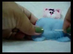Mila Arts - moldes e PAP: Vídeo e molde - Ursinho enfeite maçaneta