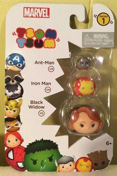 Tsum Tsum Marvel 3-Pack: Black Widow, Ant-Man, Iron Man - New! #TsumTsum