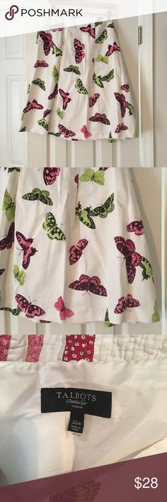 Talbots Butterfly Skirt Very pretty a line Skirt worn once EUC Talbots Skirts A-Line or Full