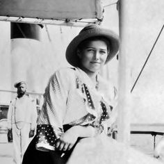 "Grand Duchess Maria Nikolaevna Romanova of Russia on board the Imperial Royal yacht. ""AL"""
