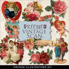Far Far Hill: Freebies Vintage Valentines Vignettes