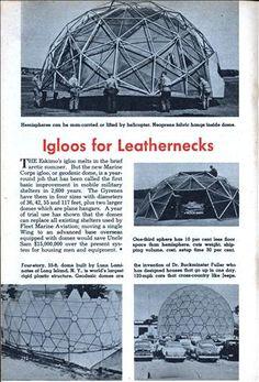 Igloos for Leathernecks (Jul, 1956)  Geodesics, Inc