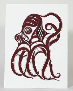 Ernest Swanson, Sense of Nuu, Limited Edition Print, Northwest Coast Native Art