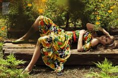 Marie Claire Brasil - Janeiro 2014 Floral and fruit print sundress in bold colors
