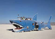 Art car from Burning Man,Black Rock desert Nevada