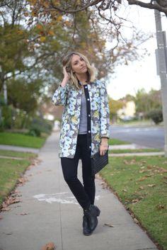 casaco florido