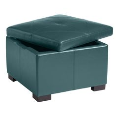 Chelsea Storage Ottoman - Teal | Pier 1 Imports