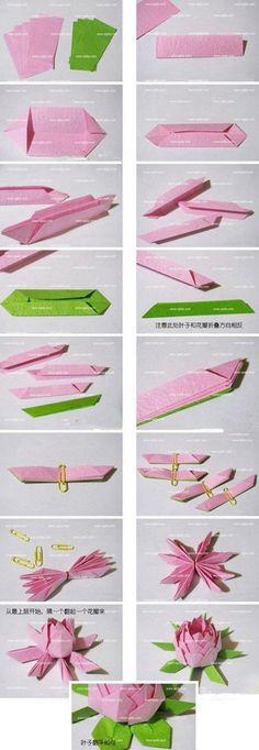 折纸莲花…_来自淇a的图片分享-堆糖