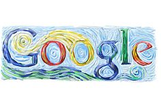 March 30, 2005  The Van Gogh doodle appeared in an era when doodles began to get more ambitious, and it's one of the doodlers' best interpretations of a specific painter.