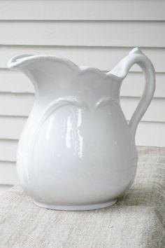 ironstone pitcher love ... www.komedalroad.com