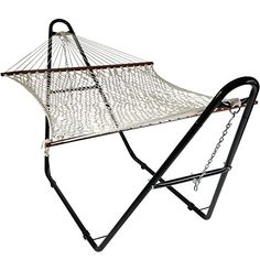 Sunnydaze Cotton Double Wide 2Person Rope Hammock with Spreader Bars and MultiUse Steel Stand 440 Pound Capacity -- You can get additional details at the image link. Note: It's an affiliate link to Amazon