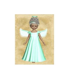 "Digital Download Green Angel , Angel Wings Cutout, 3D Angel Template ""Mint Angel Clipart Image"" Graphics Sheet, Transparent Background by ICreateAndCollect on Etsy"