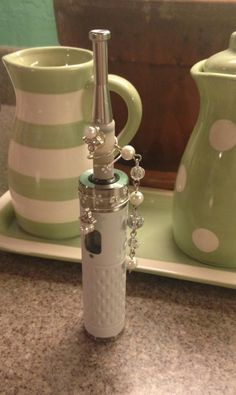 White Provari Mini with a 306 atty - decked out in pearls Vaporizer Pen, Best Vaporizer, Herbal Vaporizer, I Quit Smoking, Toy Cars For Kids, Gadgets And Gizmos, Vape Shop, Vape Juice, The Smoke