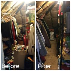 How are those resolutions going? If you are wanting to get organized for a successful 2018, schedule a session today! My latest project was an attic closet functional for storing off-season clothing and supplies for my client's many passion and community projects. #getorganized #professionalorganizer #closetorganization
