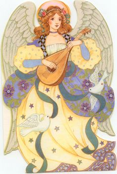 angel-with-lute-card.jpg (603×896)