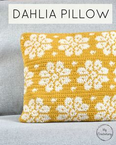 Ever since I discovered the mosaic crochet, my head is full of new ideas. And today, I am excited to introduce new and FREE mosaic crochet pillow pattern called Dioon Pillow. Scroll down to see the Dioon Pillow free crochet . Crochet Cushion Pattern, Crochet Motifs, Crochet Cushions, Tapestry Crochet, Crochet Afghans, Knit Crochet, Crochet Patterns, Knitted Pillows, Crochet Pillow Cases