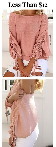 1e957e41ba26 Love love love this casual vintage round collar pullover. Which color suits  you most