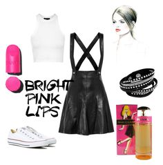 """Cool Girl Friday"" by peraroma-com on Polyvore featuring Sandro, Topshop, Chanel, Converse, cool, Prada and pinklips"