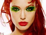 Interesting makeup. Maybe a little too green and heavy.