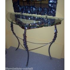Wrought Iron Consolle Furniture. Customize Realizations. 311 Vanity Bench, Wrought Iron, Table, Console, Furniture, Ebay, Home Decor, Decoration Home, Room Decor