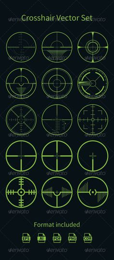 Realistic Graphic DOWNLOAD (.ai, .psd) :: http://vector-graphic.de/pinterest-itmid-1008138794i.html ... Crosshair Vector Set ... <p>Crosshair Vector Set</p> aniper, crosshair, game, rifle, scope, set, shoot, target, vector  ... Realistic Photo Graphic Print Obejct Business Web Elements Illustration Design Templates ... DOWNLOAD :: http://vector-graphic.de/pinterest-itmid-1008138794i.html