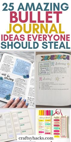 If you love planning and have a planner already, try these bullet journal ideas to save time and become more productive. These simple bujo ideas are super practical. #bujo #bulletjournal #planner