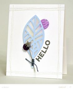 JJ Bolton {Handmade Cards}: Hello card made with the Silhouette