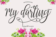 Introducing My Darling Script + Bonus Hi everyone! Thanks for checking out My Darling Script + Bonus Hope this fun! My Darling Script is modern script font,