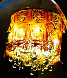 This lamp is a Hupsu Resain. Yellow is a symbol of earth. Crystal inside fabulous. Can you find the cat?
