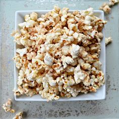 Cinnamon Sugar Popcorn ~~ Ingredients:  1/4 cup Sugar, 1 1/2 teaspoons Cinnamon, 1/4 cup Butter, Melted, 1 teaspoon Pure Vanilla Extract, 12 cups Hot Popped Popcorn, Unpopped Kernels Removed -- Cooking Directions:  Combine sugar and cinnamon in a small bowl. Set aside.  Combine melted butter and vanilla and set aside.  In a large bowl toss hot popcorn with butter coating evenly. Then toss with cinnamon sugar.  Enjoy!