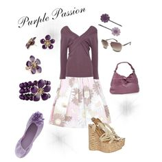 Purple Passion, created by #sarabethlyon on #polyvore. #fashion ... SBL creation