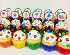 Cupcakes M&M's #placeofcakes #cupcakesM&Ms