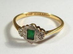 Art Deco ring - I actually have this exact ring! How spooky is that! :)